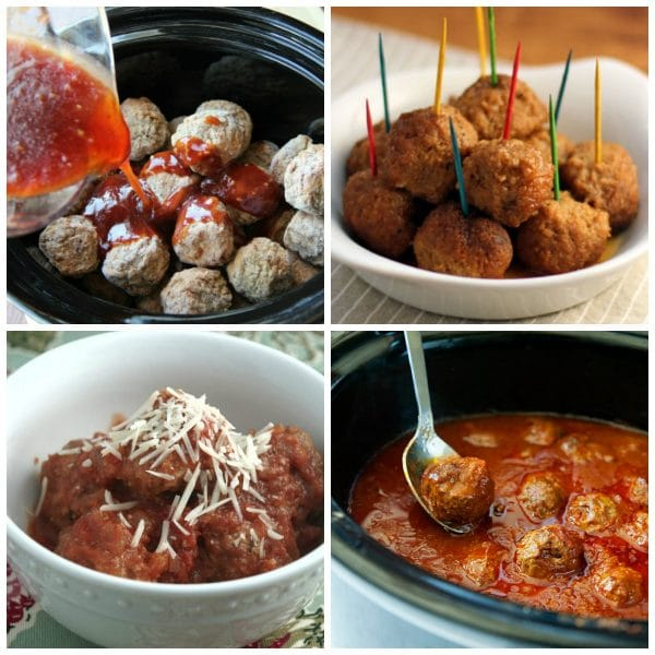 Amazing Slow Cooker Meatballs lower photo collage