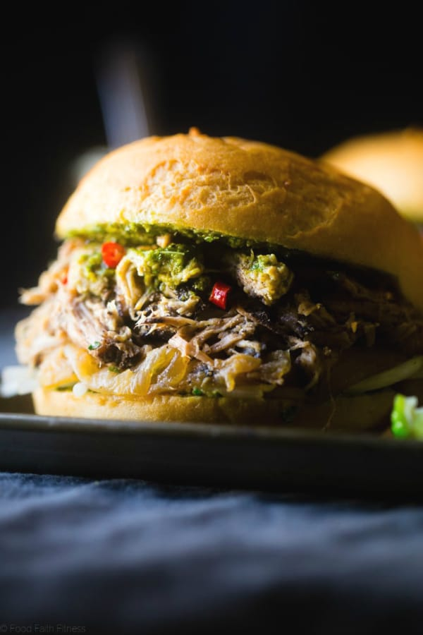 """Slow Cooker """"Pho"""" Pulled Pork Sandwiches from Food Faith Fitness"""