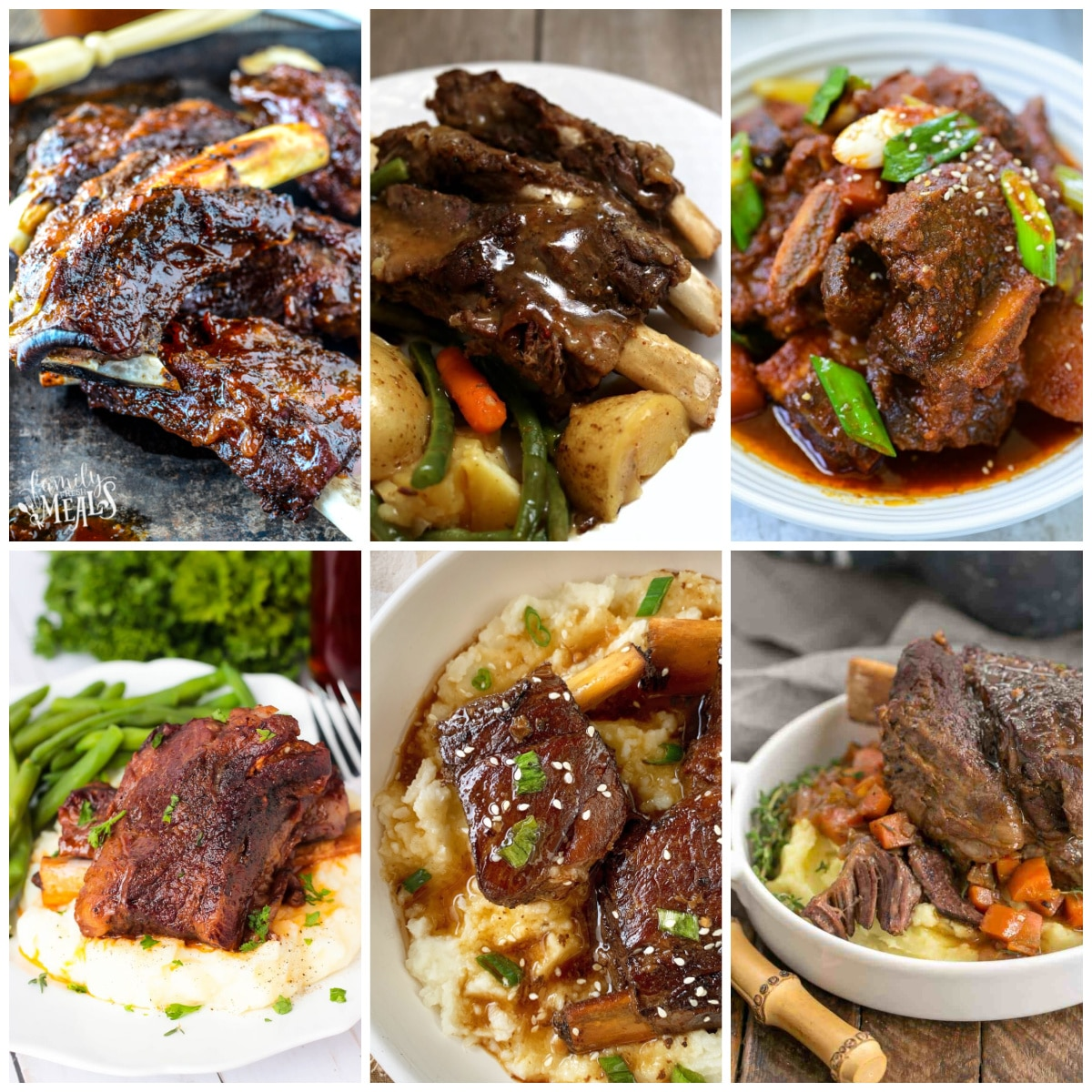 Slow Cooker and Instant Pot Beef Ribs Recipes photo collage