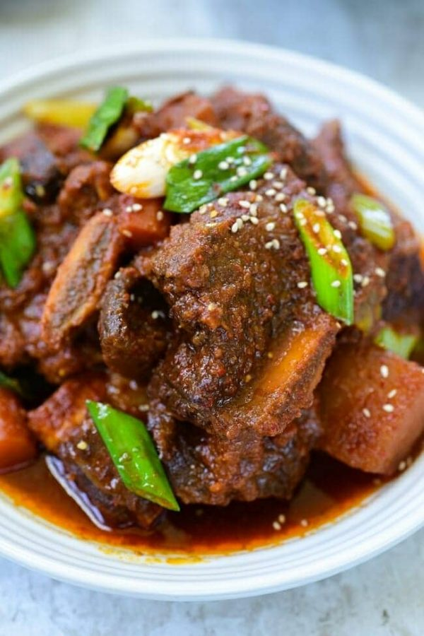 Instant Pot Spicy Galbijjim (Braised Short Ribs) from Korean Bapsang