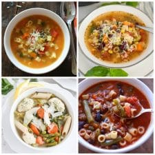 Instant Pot Minestrone Soup Recipes collage photo