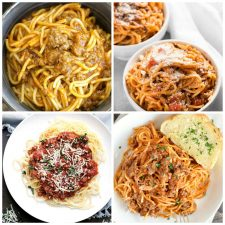 Quick and Easy Instant Pot Spaghetti Dinners top collage