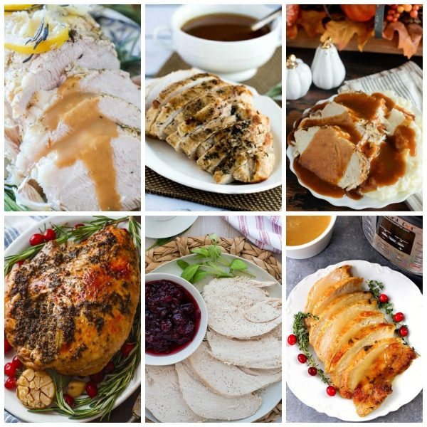 Ten Terrific Recipes for Instant Pot Turkey Breast top collage photo