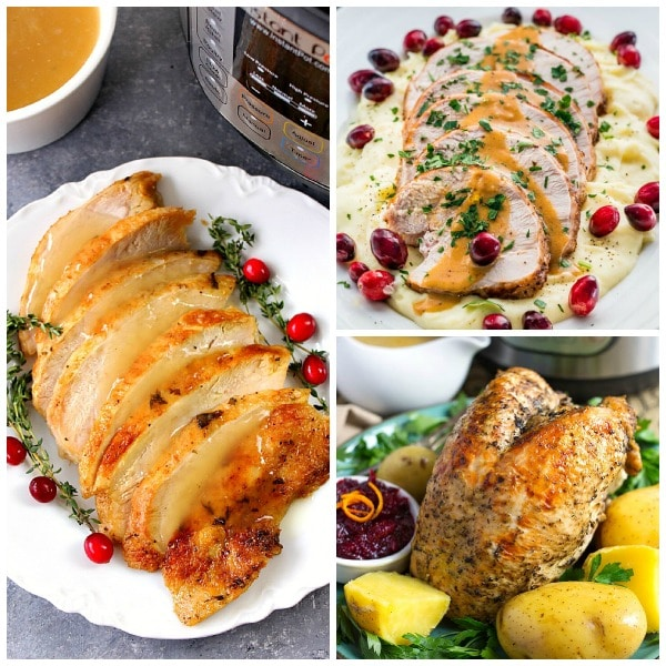 Ten Terrific Recipes for Instant Pot Turkey Breast featured on Slow Cooker or Pressure Cooker at SlowCookerFromScratch.com