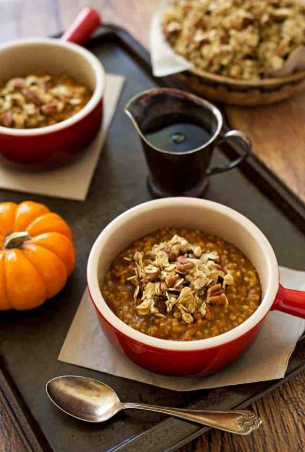 Instant Pot Pumpkin Steel Cut Oats from Pressure Cooking Today