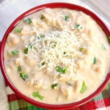 Instant Pot Creamy White Chicken Chili from 365 Days of Slow Cooking featured on Slow Cooker or Pressure Cooker at SlowCookerFromScratch.com