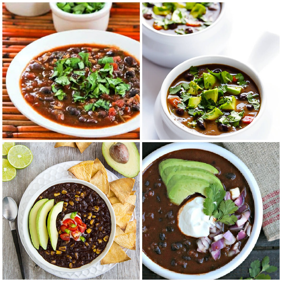Slow Cooker and Instant Pot Black Bean Soup Recipes photo collage