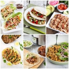 Slow Cooker or Instant Pot Pork Lettuce Wraps or Tacos top photo collage