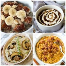 The BEST Slow Cooker or Instant Pot Recipes for Steel Cut Oats top collage photo