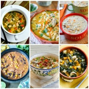 The BEST Slow Cooker and Instant Pot Turkey Soup Recipes (plus Honorable Mentions) collage image