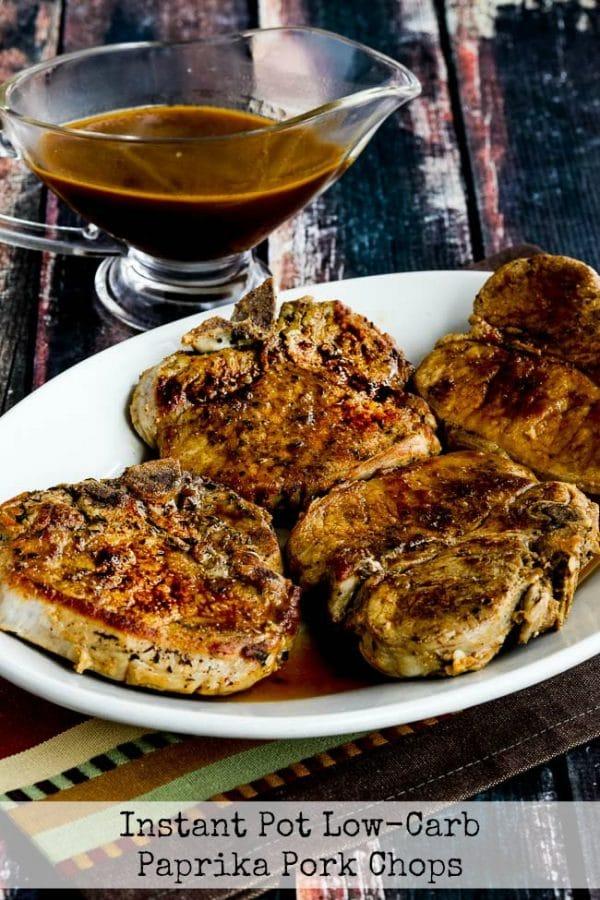 Instant Pot Low-Carb Paprika Pork Chops