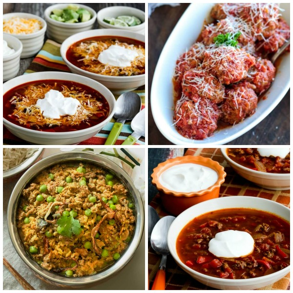 The BEST Low-Carb Instant Pot Dinners with Ground Beef featured on Slow Cooker or Pressure Cooker at SlowCookerFromScratch.com
