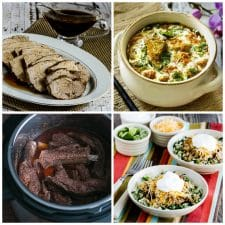 Low-Carb and Keto Instant Pot Dinners with Pork top photo collage