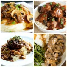 Instant Pot and Slow Cooker Salisbury Steak Dinners top photo collage
