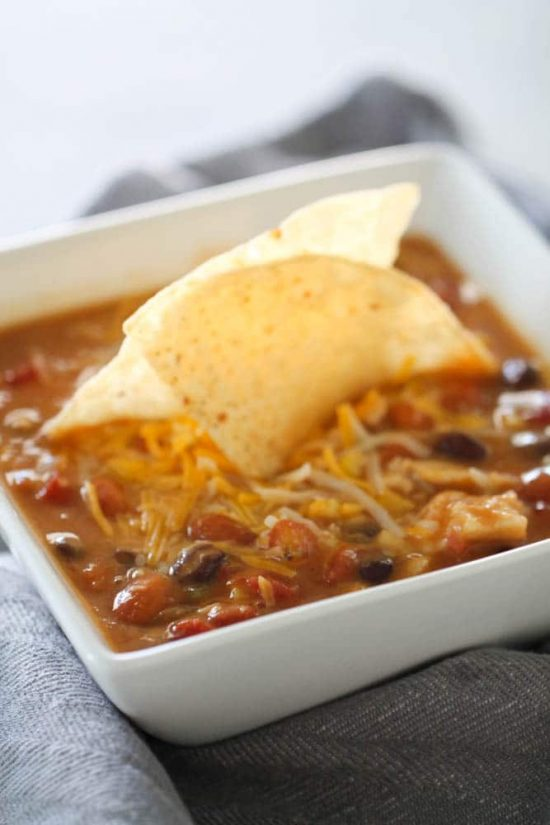 Slow Cooker 8-Can Taco Soup from Six Sisters' Stuff