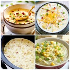 The BEST Slow Cooker Potato Soup Recipes top photo collage