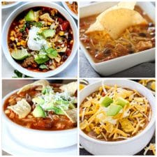 Taco Soup Recipes Your Family Will Love (Slow Cooker or Instant Pot) top photo collage