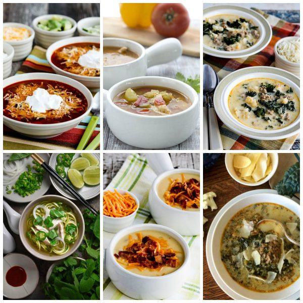 50 AMAZING Low Carb Instant Pot Soup Recipes collage photo
