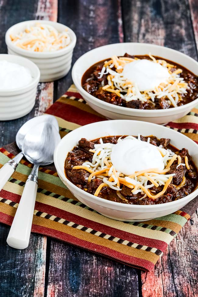 Instant Pot All Beef Ancho and Anaheim Chili from Kalyn's Kitchen