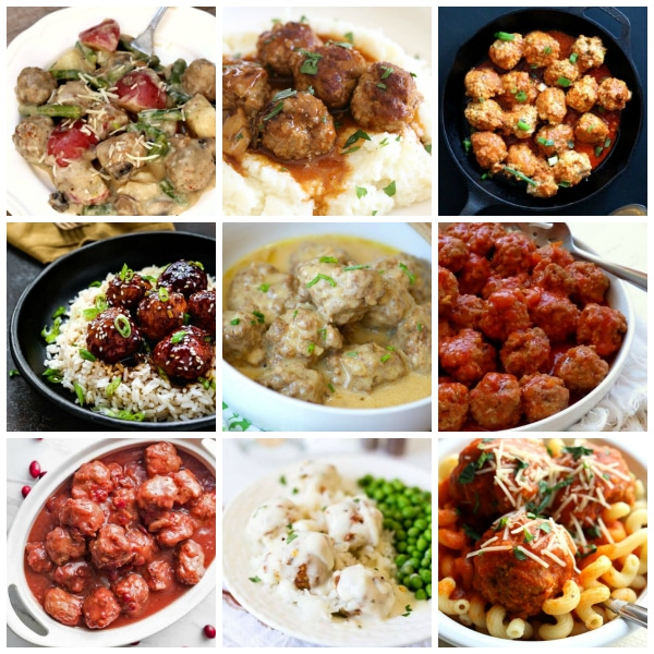 The Best Instant Pot Meatballs Collage Photo