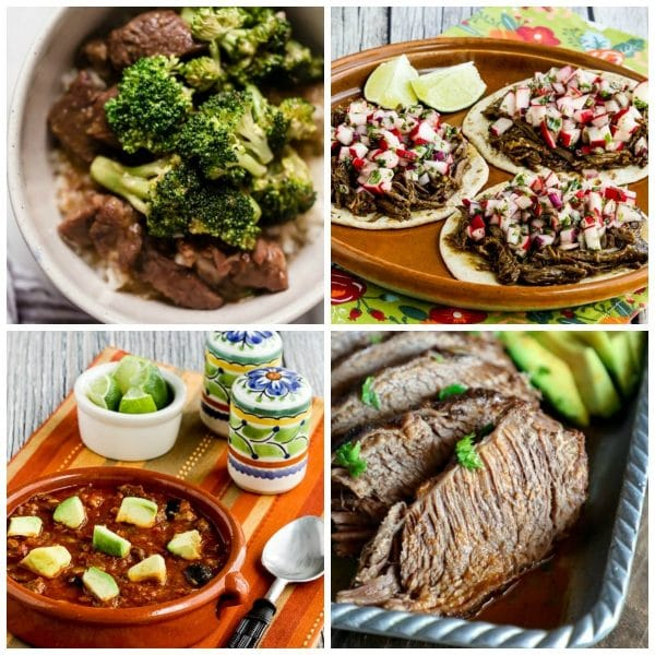 Low-Carb Instant Pot Dinners with Beef photo collage