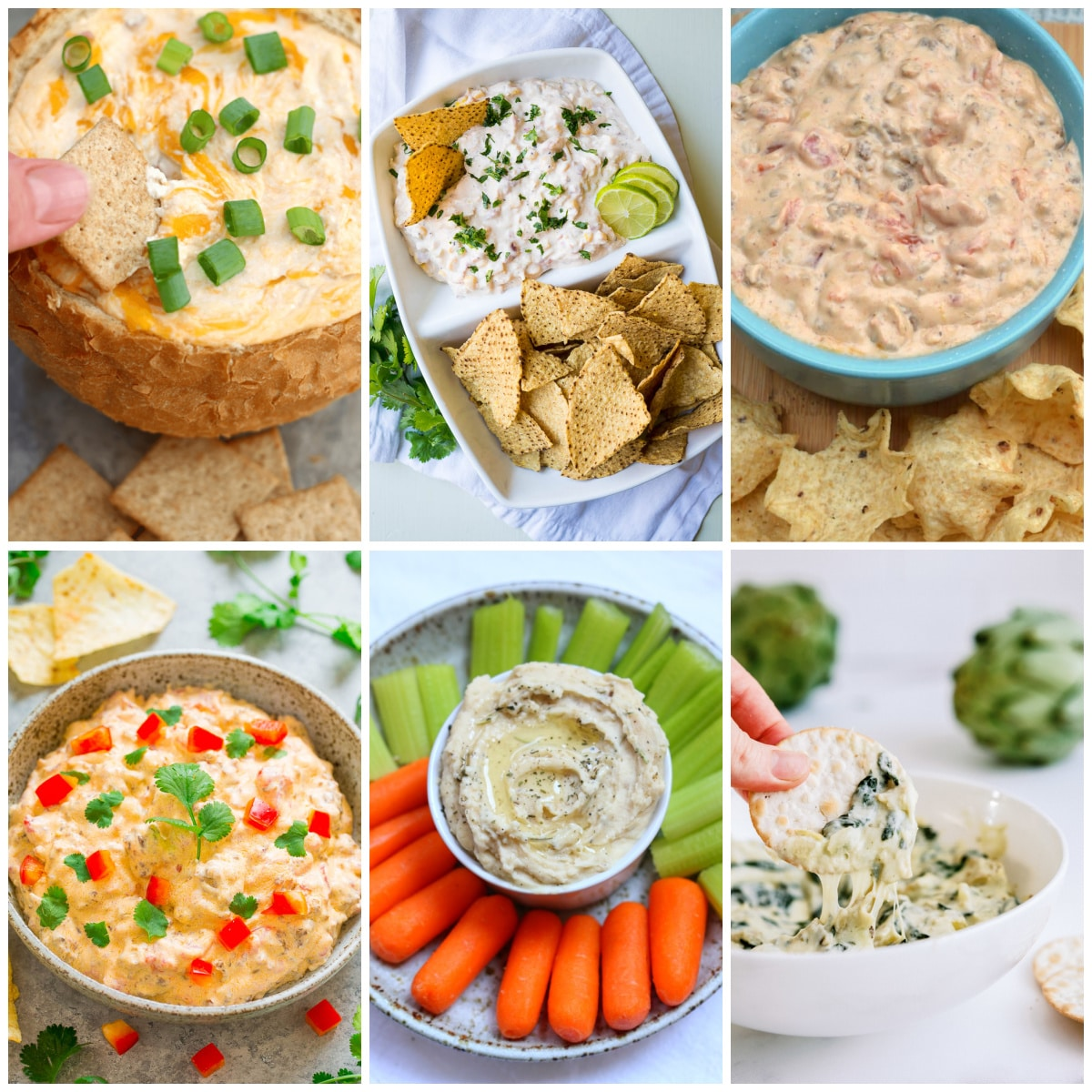 The BEST Instant Pot Party Dips top photo collage