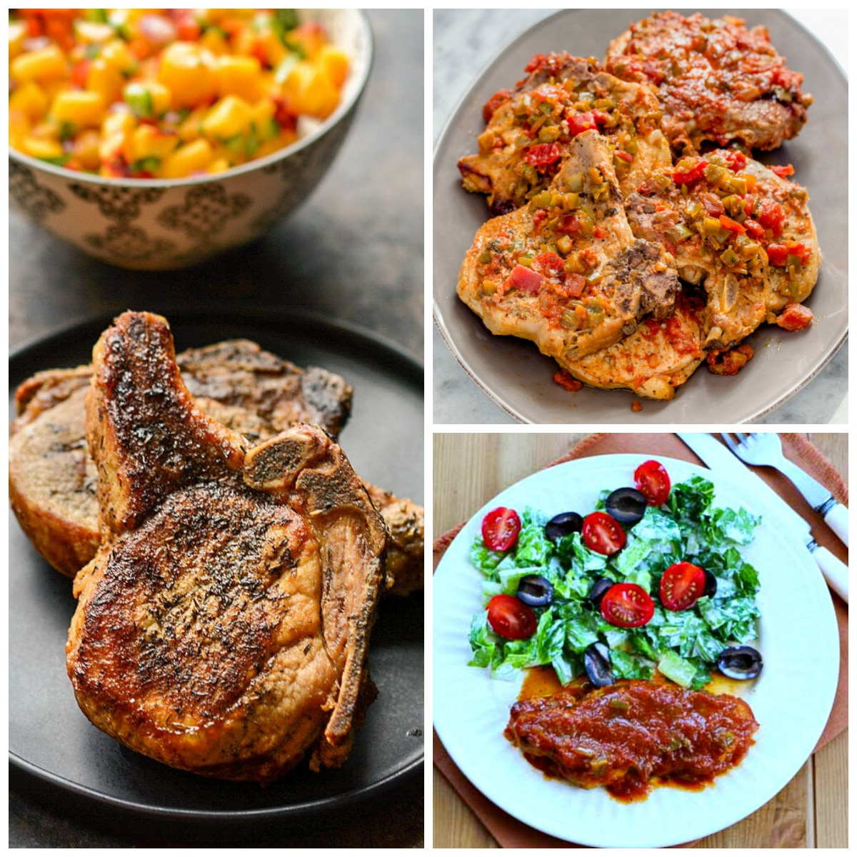Three Tasty Recipes for Salsa Pork Chops (Slow Cooker or Instant Pot)