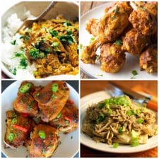 Slow Cooker or Instant Pot Tandoori Chicken Recipes top photo collage