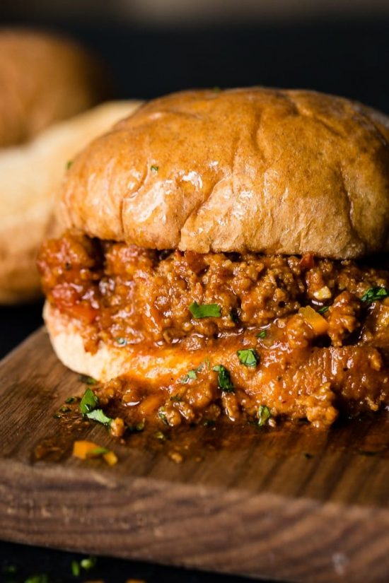 Healthy Instant Pot Sloppy Joes with Turkey from Oh Sweet Basil