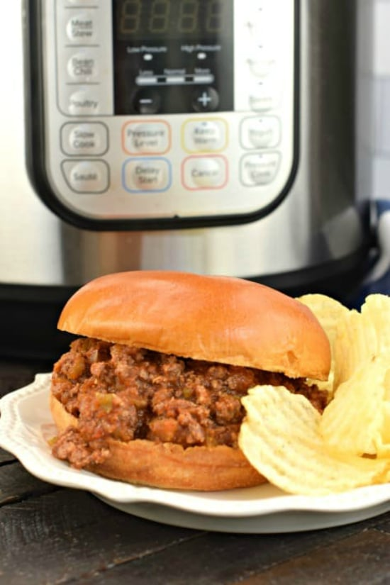 Instant Pot Sloppy Joes Recipe from Shugary Sweets