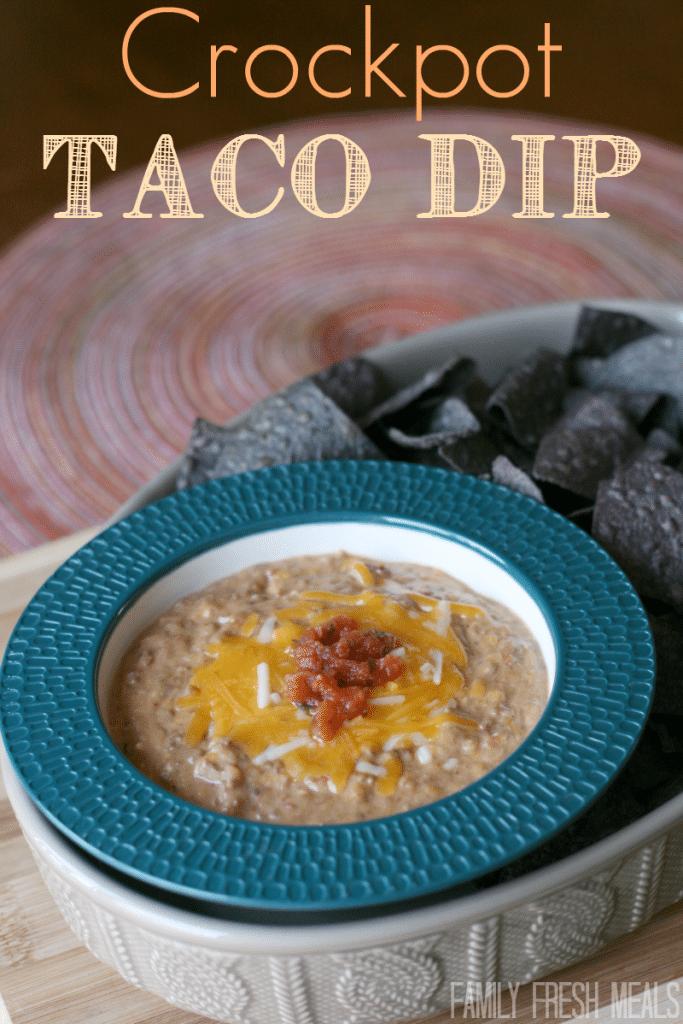 Crockpot Taco Dip from Family Fresh Meals