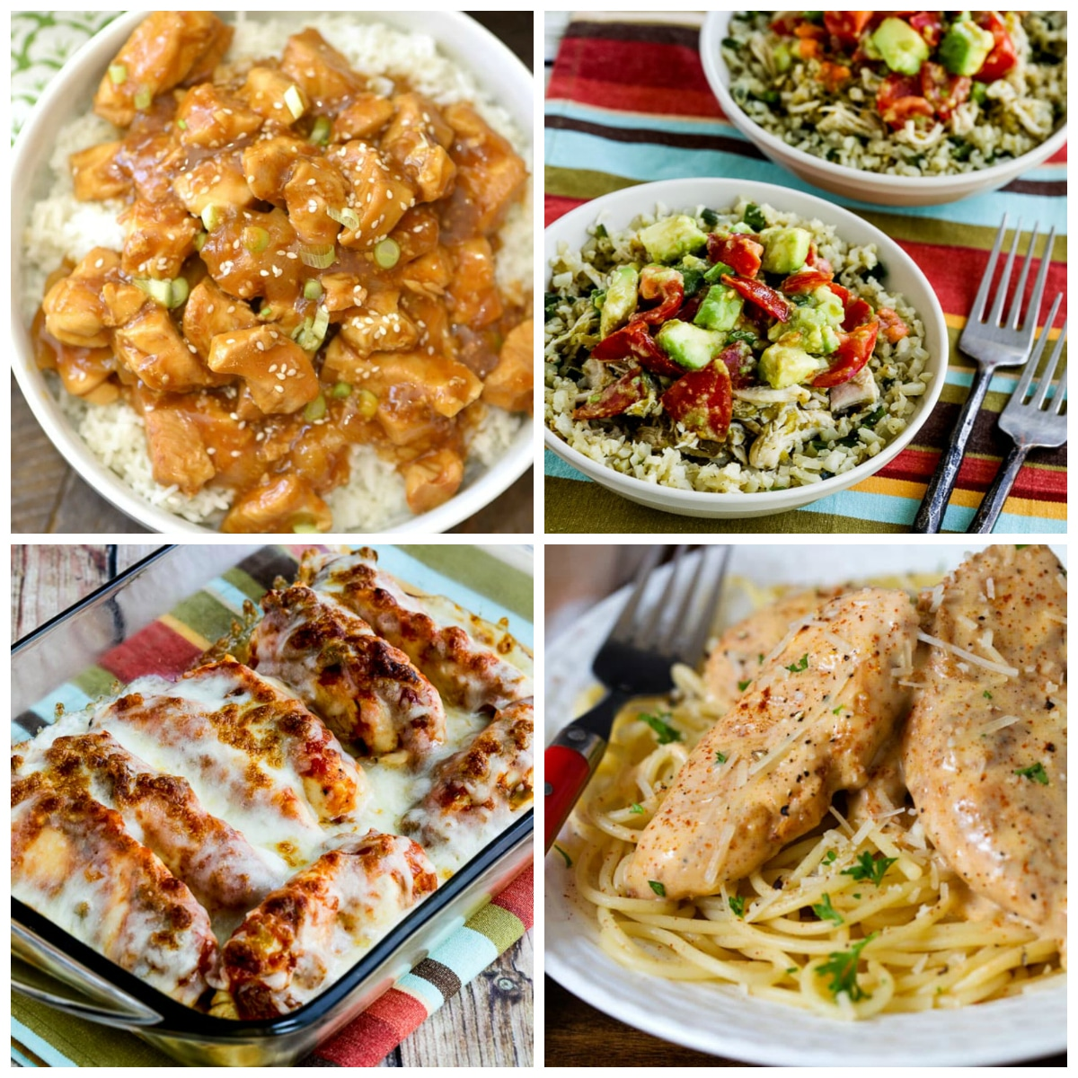 Instant Pot Chicken Dinners top photo collage