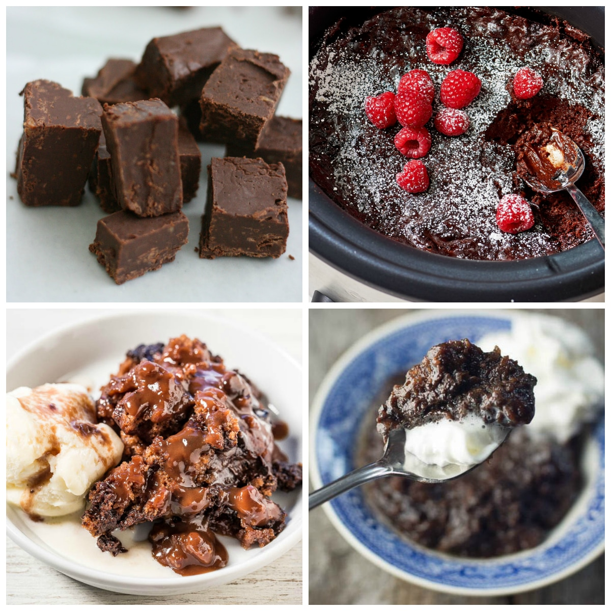 Slow Cooker Chocolate Desserts top photo collage
