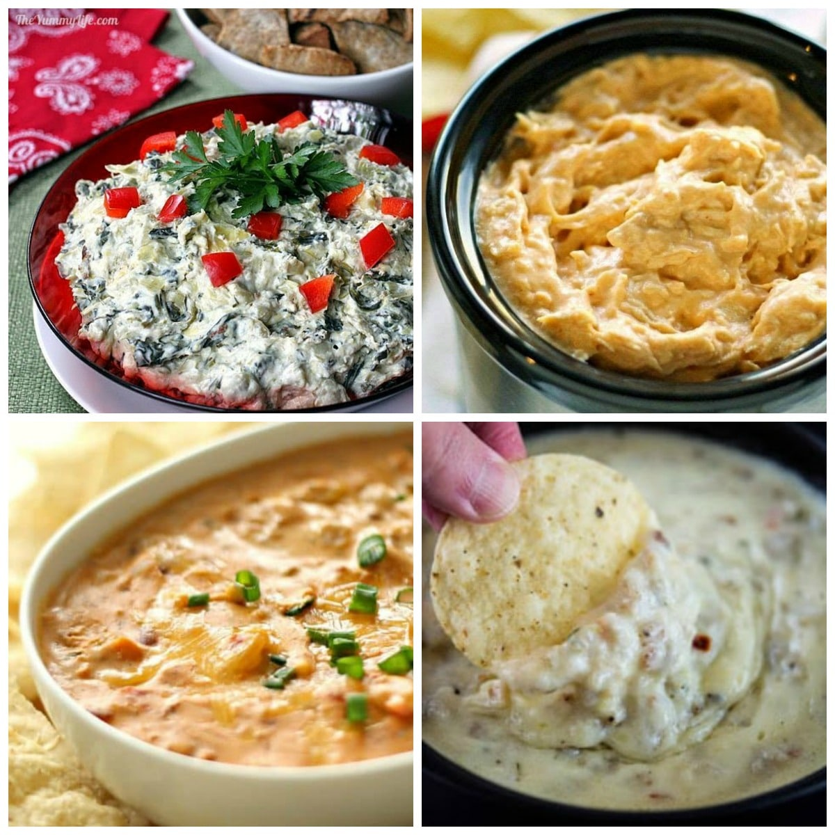 The BEST Slow Cooker Dip Recipes for Parties and Holidays top collage