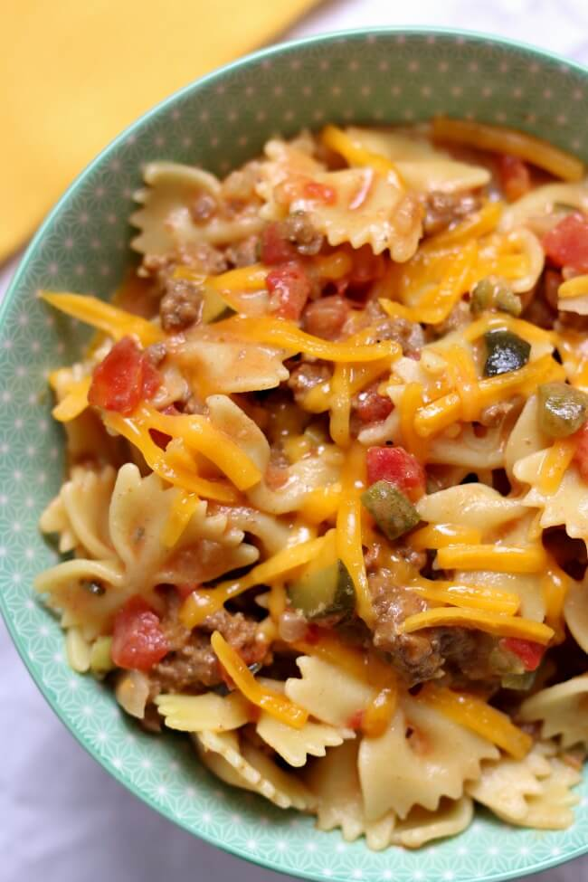 Instant Pot Cheeseburger Pasta from 365 Days of Slow + Pressure Cooking