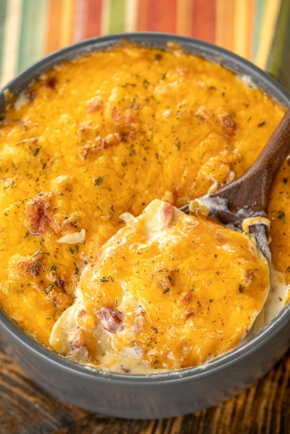 The BEST Instant Pot or Slow Cooker Scalloped Potatoes featured on Slow Cooker or Pressure Cooker