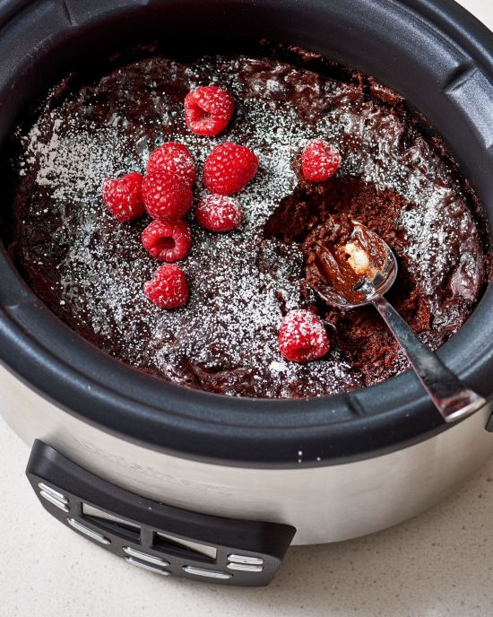 Slow Cooker Chocolate Lava Cake from The Kitchn