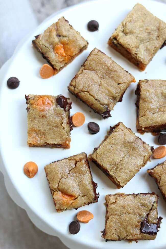 Slow Cooker Chocolate Chip Cookie Bars from 365 Days of Slow + Pressure Cooking