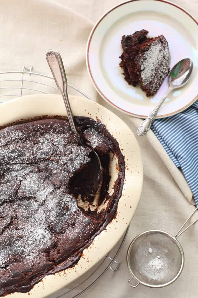 Skinny Slow Cooker Chocolate Pudding Cake from Simple Nourished Living