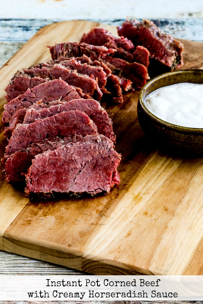 Instant Pot Corned Beef with Creamy Horseradish Sauce