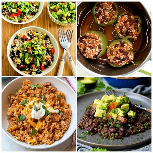 Instant Pot or Slow Cooker Black Beans and Rice Recipes top photo collage