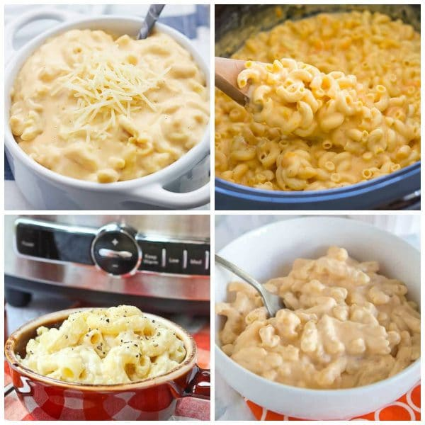 The Best Slow Cooker Mac and Cheese Recipes top photo collage