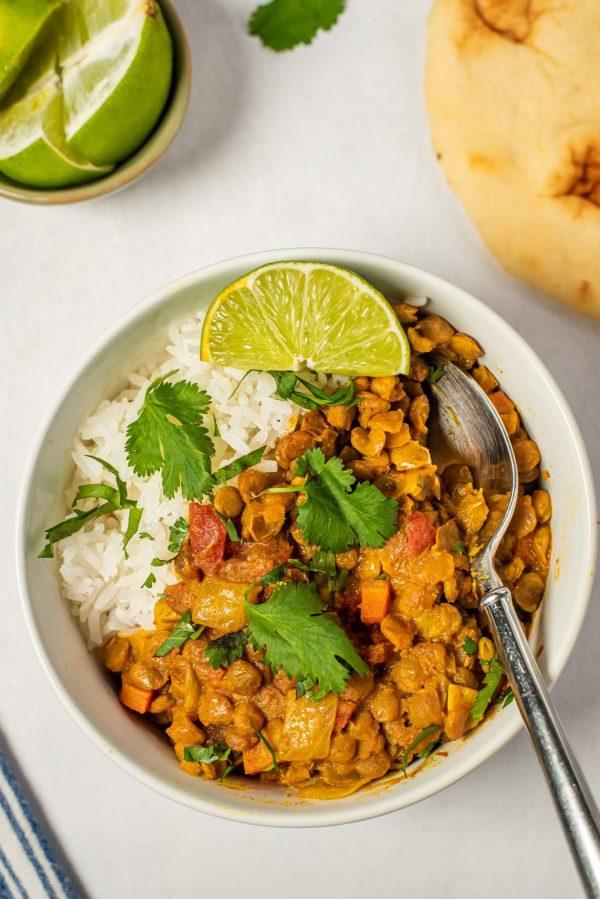 Lentil Coconut Curry from Slender Kitchen