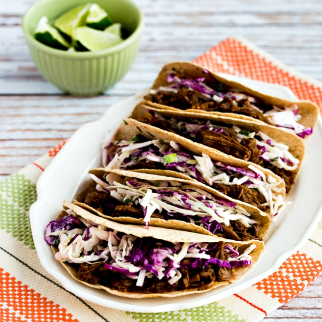 Low-Carb Flank Steak Tacos from Kalyn's Kitchen