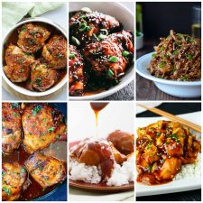 Slow Cooker or Instant Pot Honey Garlic Chicken photo collage