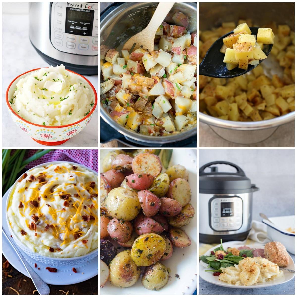 The BEST Instant Pot Potato Recipes top photo collage