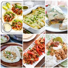 Instant Pot or Slow Cooker Mexican Pork Dinners collage photo of featured recipes