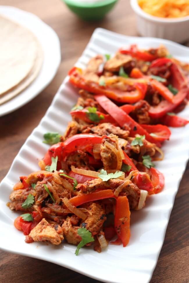 Instant Pot Pork Chops Fajitas from 365 Days of Slow + Pressure Cooking