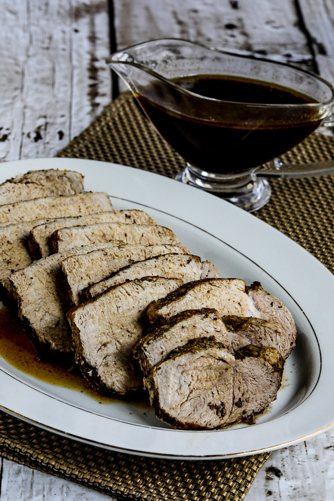 Slow Cooker Balsamic Pork Roast from Kalyn's Kitchen