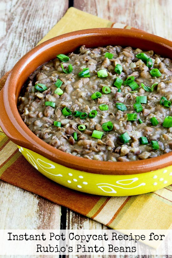 Rubio's Pinto Beans from Kalyn's Kitchen
